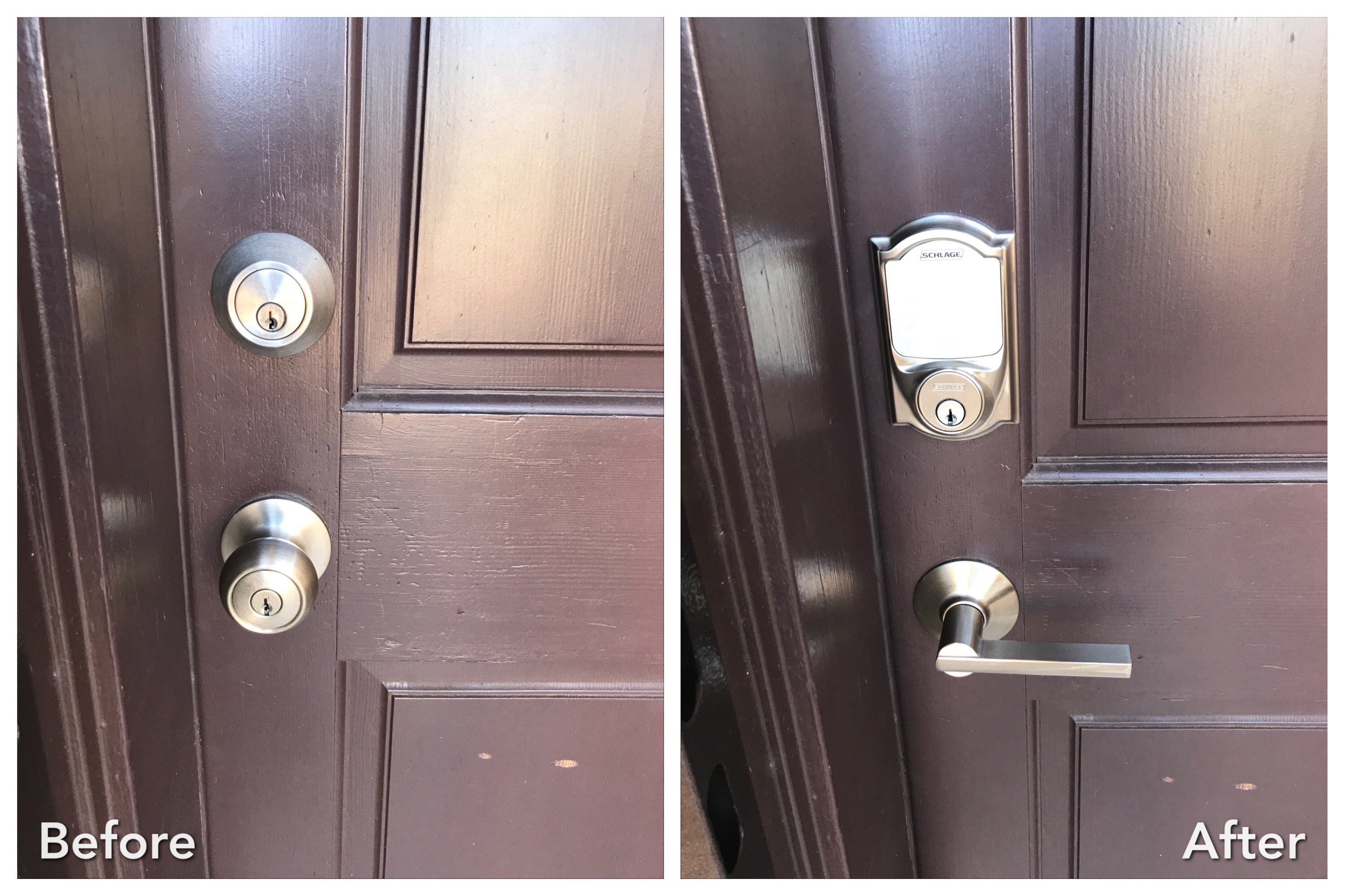 before and after lock change and rekey scottsdale az